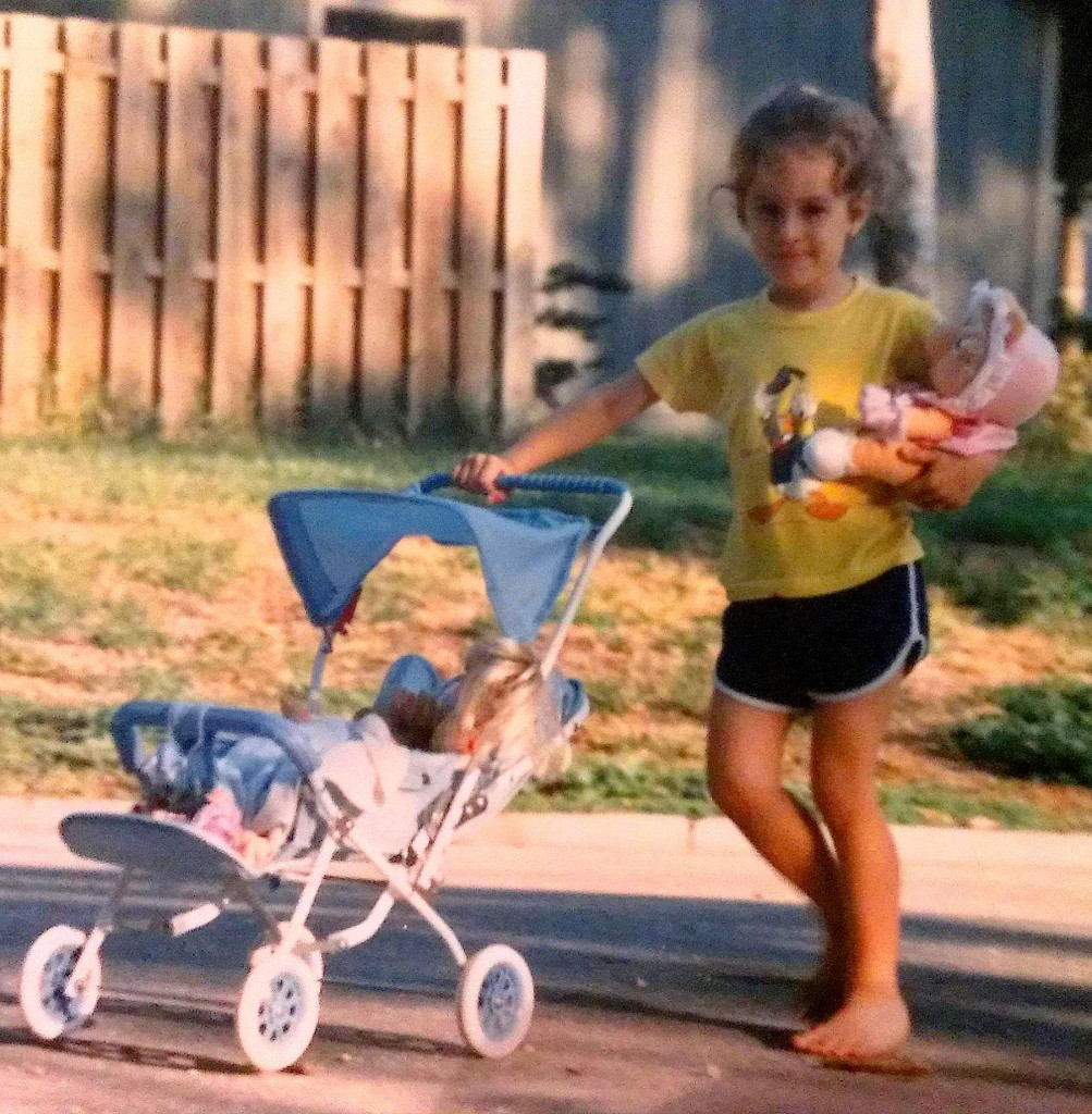 Me in the culdesac with stroller